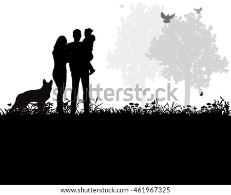 vector  isolated  silhouette