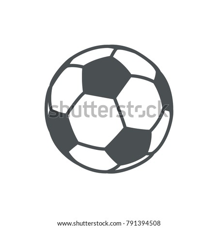 Vector isolated soccer ball. Vector football ball