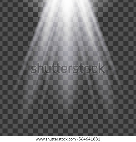Vector isolated spotlight. Light effect.
