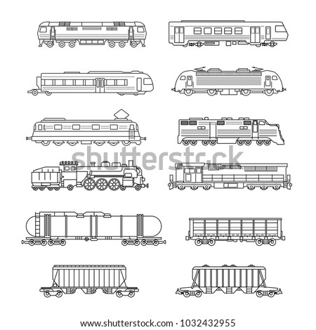 Vector isolated trains and railcars set