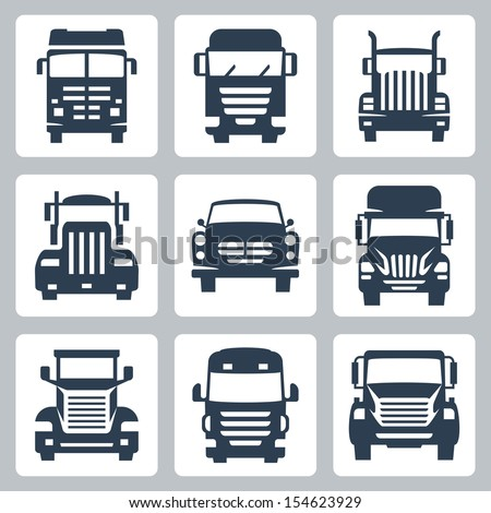 vector isolated trucks icons