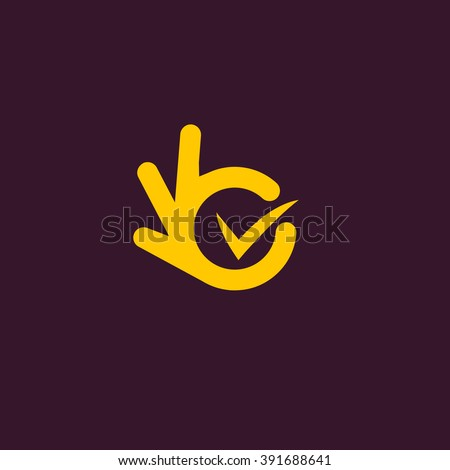 vector isolated unusual logo