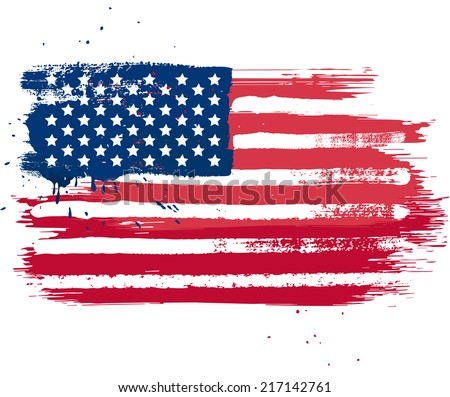 vector isolated usa flag in