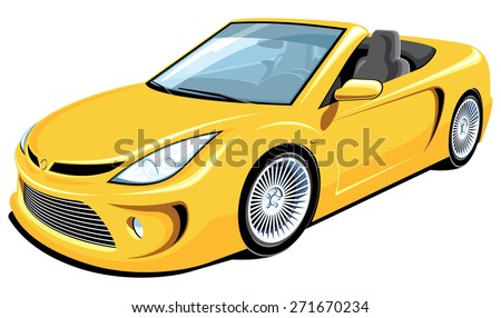 vector isolated yellow
