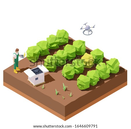 vector isometric agricultural