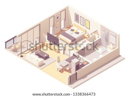 vector isometric apartment