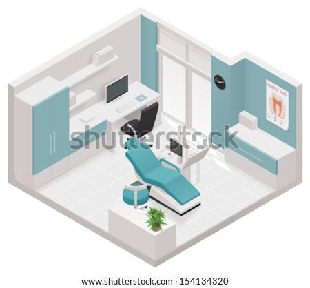 vector isometric dental clinic