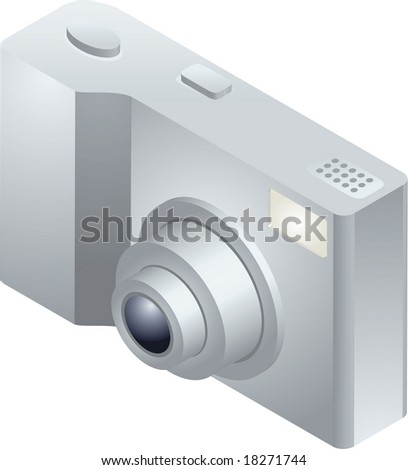 vector isometric digital camera