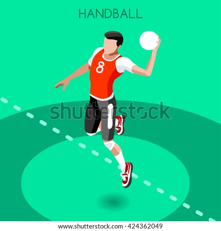 vector isometric handball