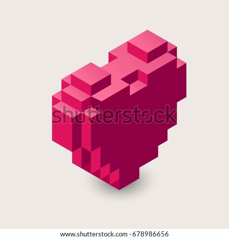 vector isometric heart