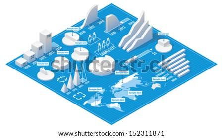 vector isometric infographic