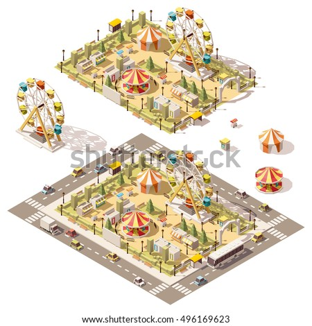 vector isometric low poly