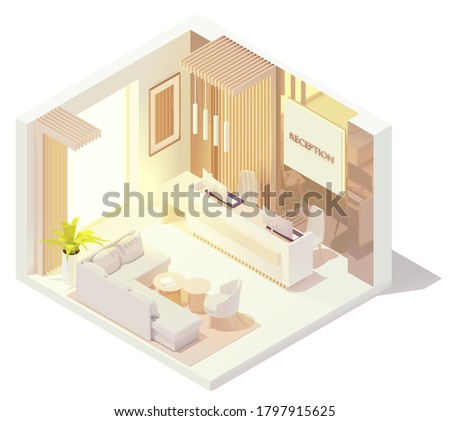 vector isometric office or