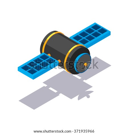 Vector isometric satellite icon