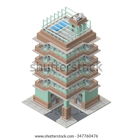 vector isometric skyscaper