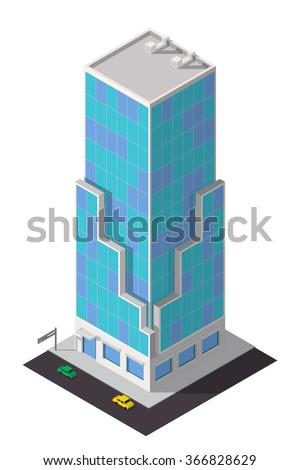 vector isometric skyscraper
