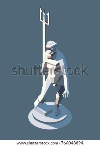 vector isometric statue