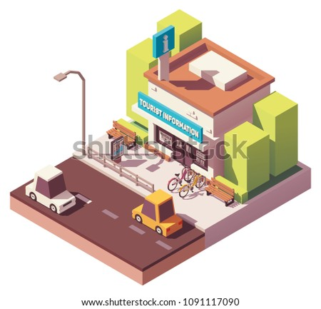 vector isometric tourist