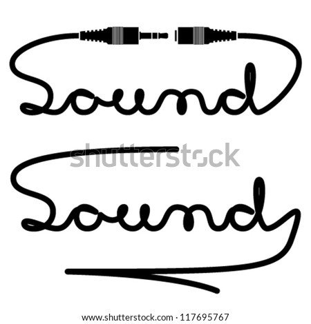 vector jack connectors sound calligraphy