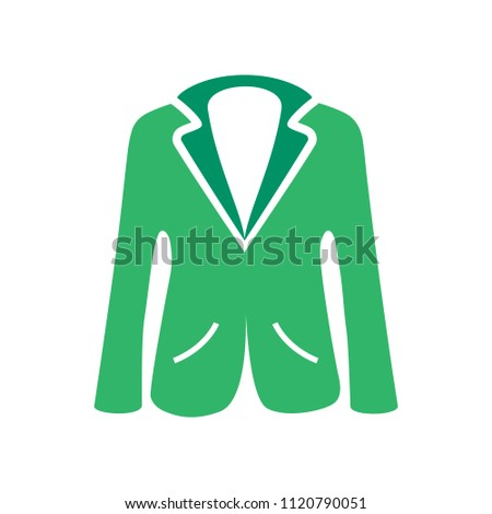 vector jacket icon, man clothing fashion, mail suit - coat illustration isolated