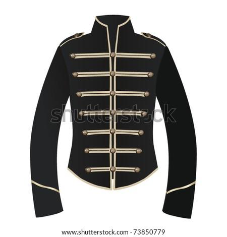 vector jacket with golden edges