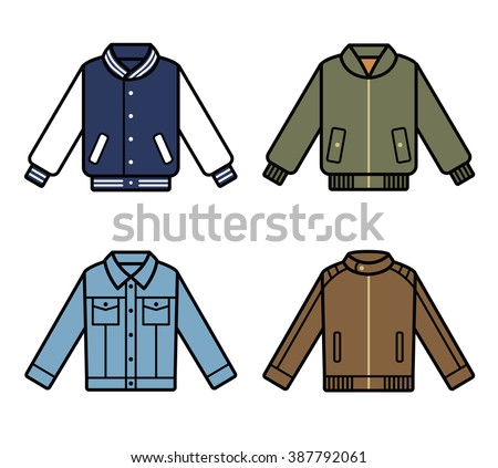 vector jackets icons mens