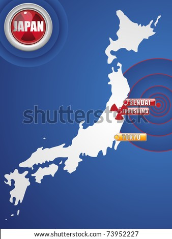 Vector - Japan Earthquake and Tsunami Disaster 2011