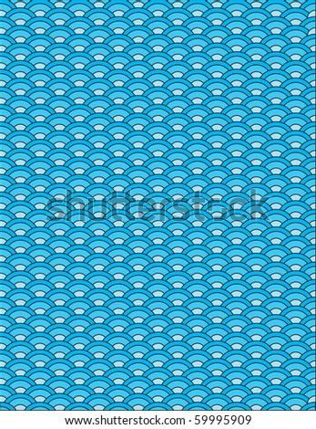Vector japanese waves seamless pattern