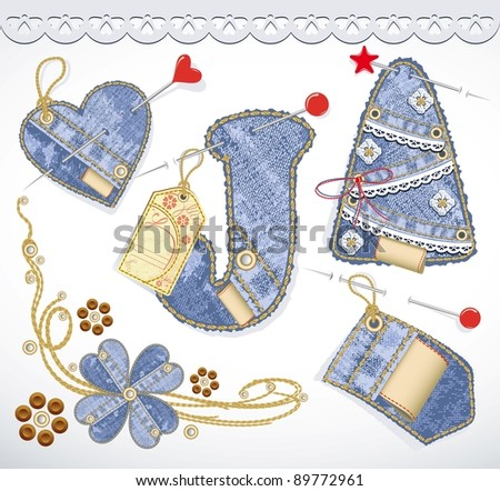 Vector Vector Christmas Lace Christmas Tree Puzzle 02 Vector ... set ...