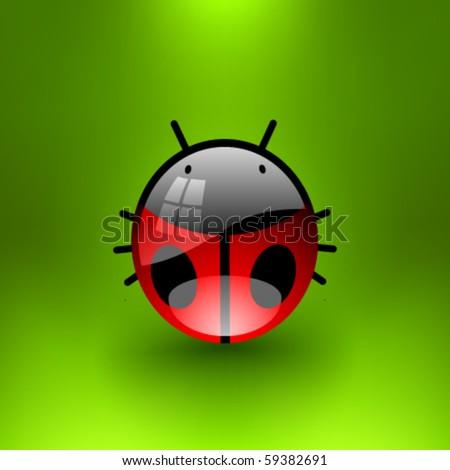 Vector Jewel Ladybug - stock vector
