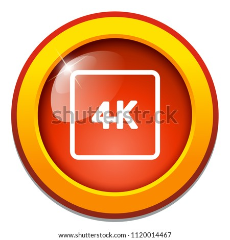 vector 4k icon ultra hd design - high definition display sign symbol