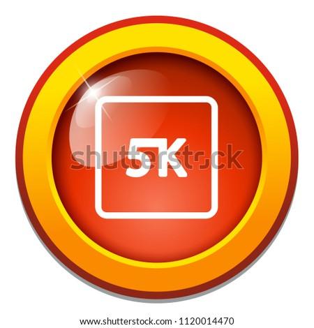 vector 5k icon ultra hd design - high definition display sign symbol