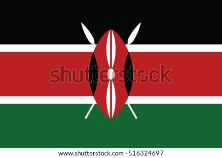 Vector Kenya flag, Kenya flag illustration, Kenya flag picture, Kenya flag image,