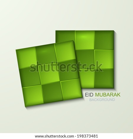 Vector ketupat element design Muslim Ketupat background Eps10