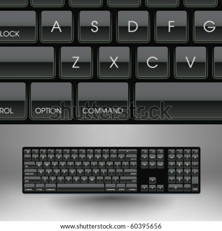 Vector 101-key Keyboard Illustration