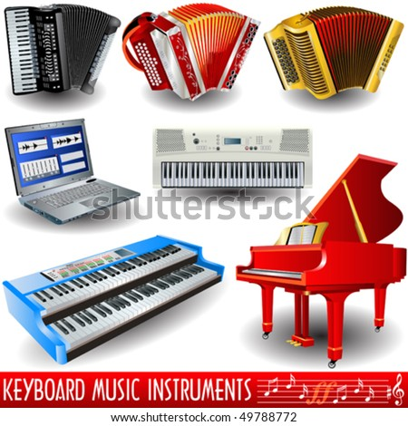 vector keyboard music icons