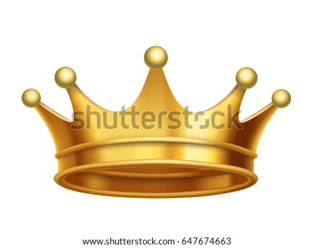 vector king crown gold isolated on white