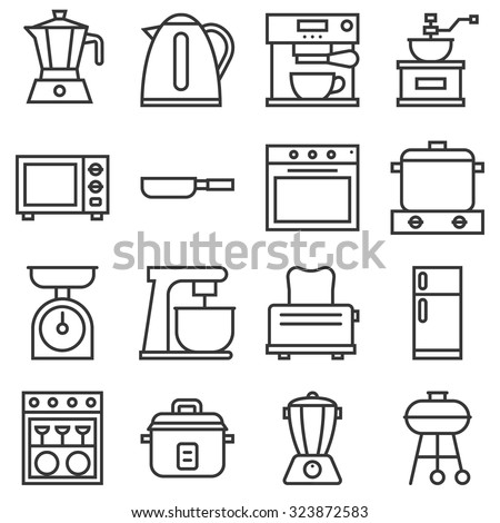 wiring diagram for kitchen appliances with Stock Vector Vector Kitchen Household Icons Thin Line on Stock Vector Vector Kitchen Household Icons Thin Line further Outdoor Kitchen Canopy also Range Ge Appliances Schematic also Whole House Fans further Ge Electric Cooktop Schematic Wiring Diagram.