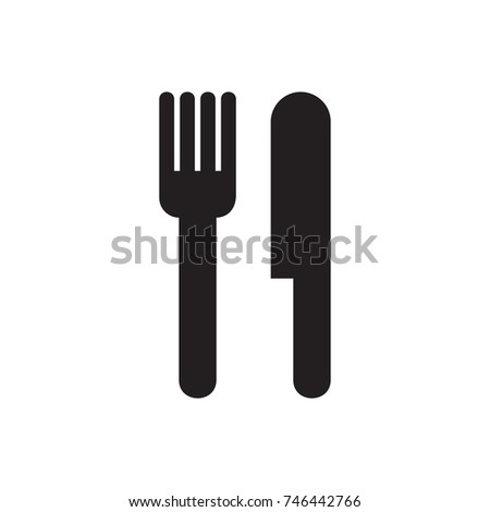 Vector knife and fork