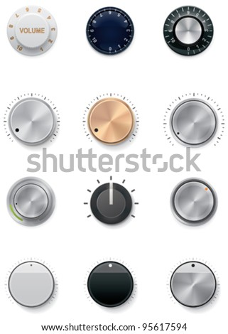 Vector knobs icon set Stock photo ©