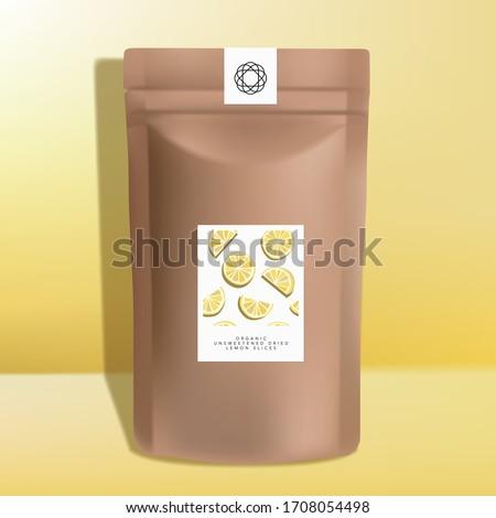 vector kraft paper zipper pouch