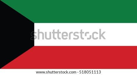 Vector Kuwait flag, Kuwait flag illustration, Kuwait flag picture, Kuwait flag image