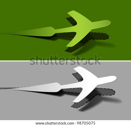 vector label airplanes in flight icons element design.