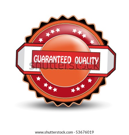 Vector label - guaranteed quality