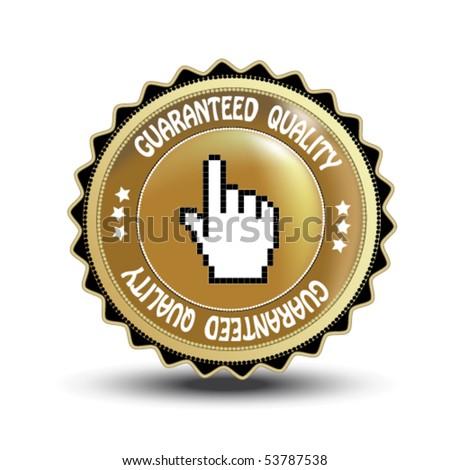 Vector label - guaranteed quality