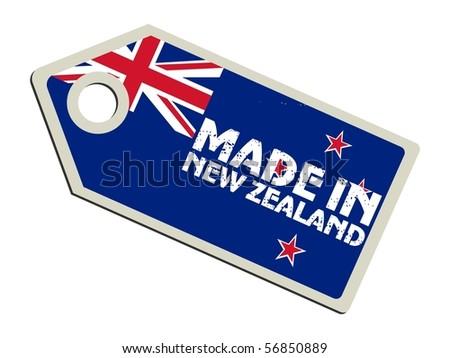 vector label Made in New Zealand - stock vector
