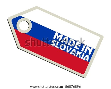 vector label Made in Slovakia