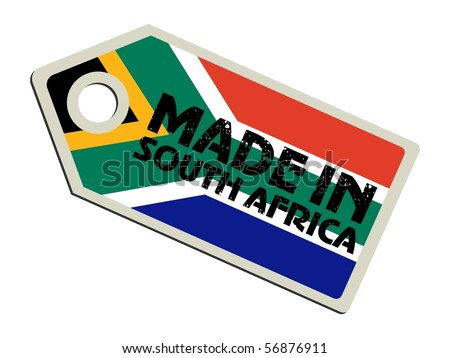 vector label Made in South Africa