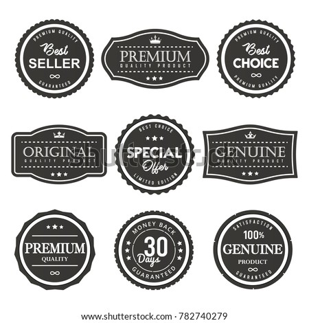 vector label premium quality