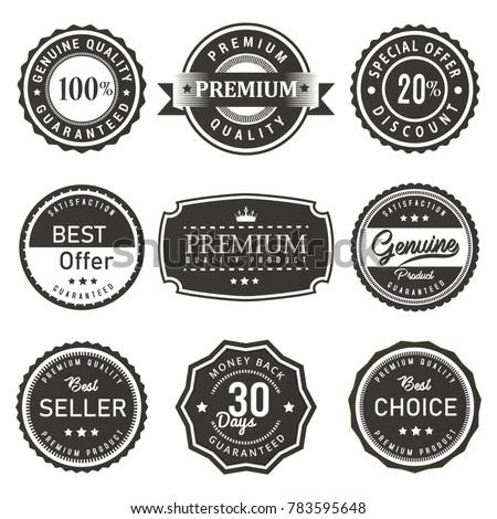 vector label seal premium quality